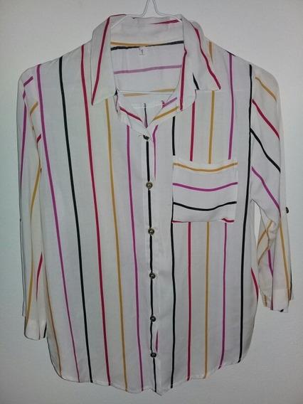Camisa Rayada De Fibrana