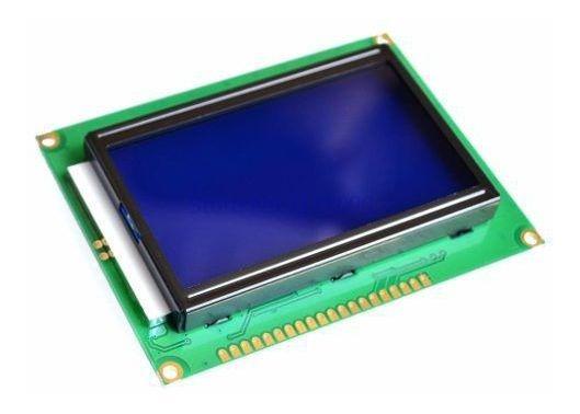 Display Lcd 128x64 Gráfico Backlight Azul Para Arduino C/ Nf