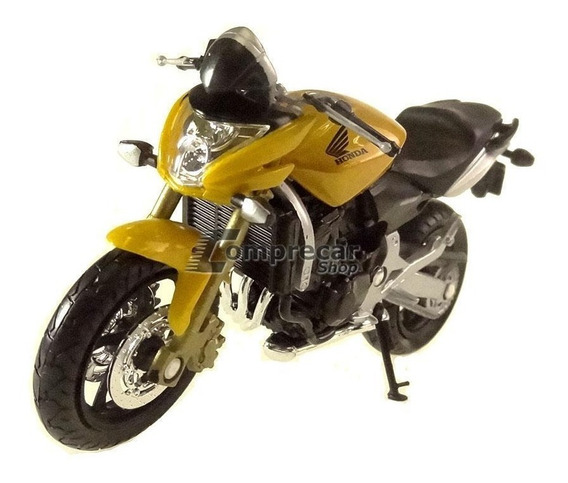 Miniatura Honda Hornet 600 Cycle Dourada Welly 1/18