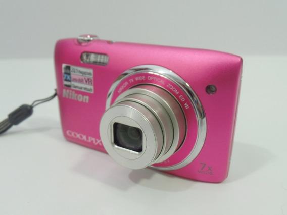 Camera Nikon Coolpix S3500 20.1mp Barata Promoção + Brindes