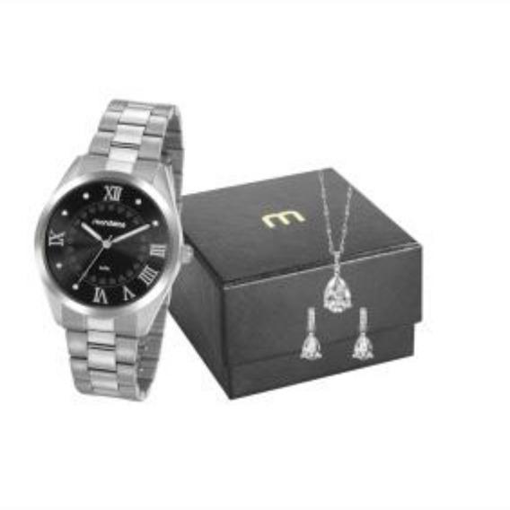 Kit Relógio Feminino Mondaine Prateado 53918l0mgne5k1z C/ Nf