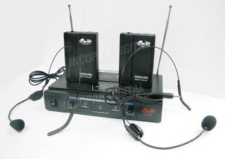 Dos Microfonos Inalambrico Vincha Gbr Pro 258