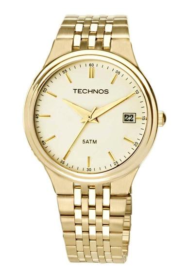 Relógio Technos Masculino Dourado 2115gr/4x Classic