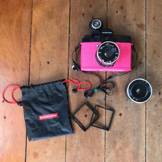 Câmera Diana F Lomo Com Lente Fisheye + Acessórios