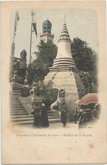 Antigua Postal Exposición Universal París Año 1900