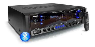 Consola Amplificador Amwood Bluetooth Usb Fm 1500w