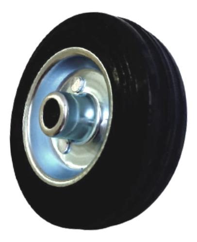 Imagem 1 de 9 de Roda De Borracha Maciça 4 Polegada Rolamento Rolete Beltools