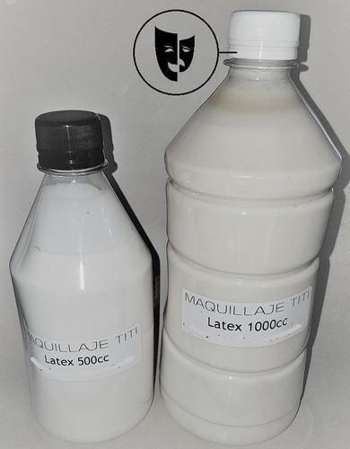Imagen 1 de 1 de Latex Liquido Prevulcanizado Para Fx Maquillaje Titi 1000cc
