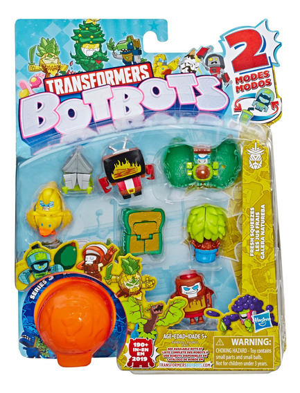 8 Pack Figuras Botbots Transformers Fresh Squeezes