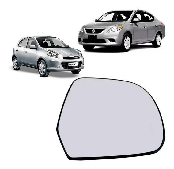 Lente Retrovisor Nissan March Versa Original
