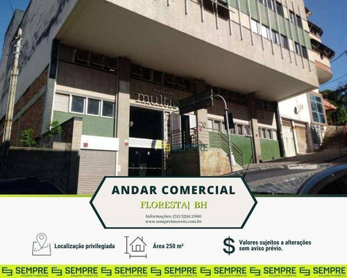 Imagem 1 de 15 de Andar Vão Livre Para Alugar, 250 M² - Floresta - Belo Horizonte/mg - Ac0076