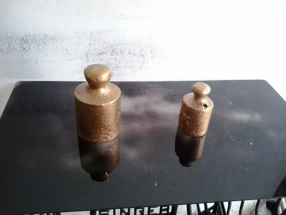 Pesos De Balança Antigos De Ferro - 2 E 5 Quilos
