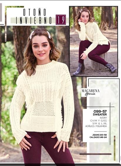 Sweater Ivory Mod. 099-57 Oi 2019