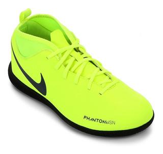 Tênis Futsal Nike Infantil Phantom Vision Club Ic Limão