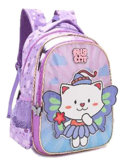 Mochila Infantil Gatinho Pré-escolar 13 13722