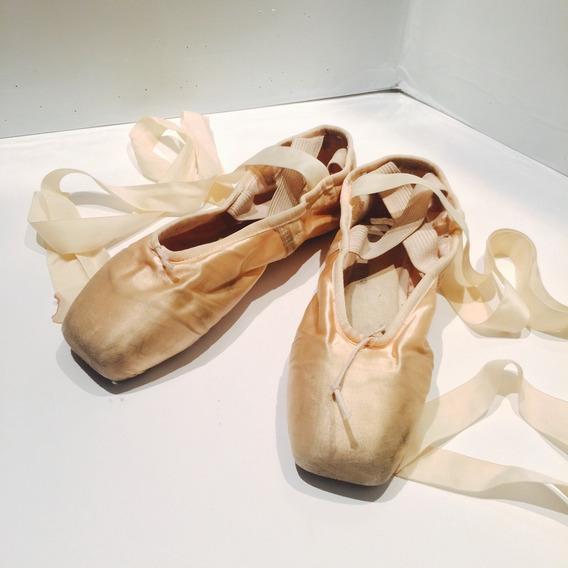 Zapatillas Ballet Punta Marca Chacott Japan Usadas