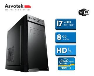 Computador Intel Core I7 8gb 1tb Hd Dvd Ssd 120 Wifi Wind 10