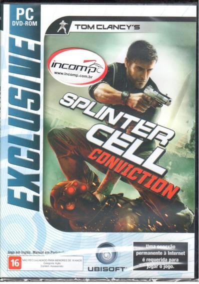Splinter Cell Convicton Jogo Pc Original Mídia Física