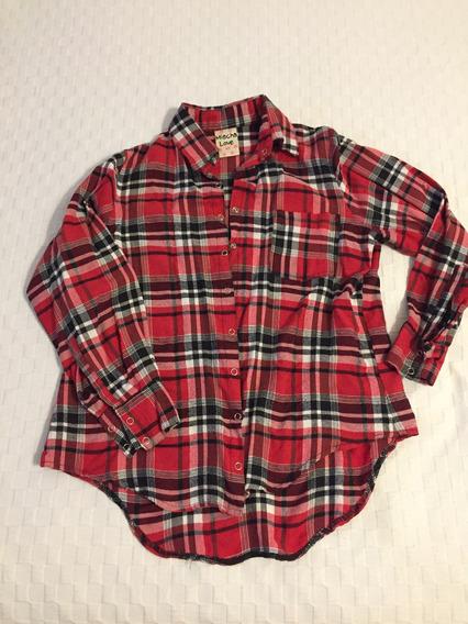 Camisa Escocesa Cuadrille. Rojo. Talle S