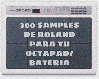 Octapad Roland Samples 300 + Programa Roland