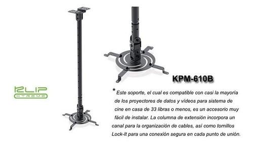Base Para Proyector Klipx Negra De Techo Desde 850mm