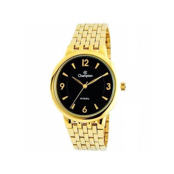 Relógio Champion Social Analógico Dourado Ca21731u