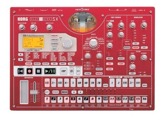 Korg Electribe Esx-1sd Completo Sampler Synth Novo Na Caixa.