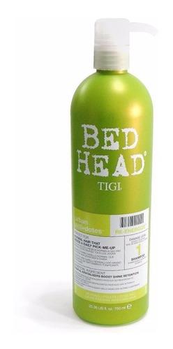 Tigi Bed Head Re-energize 750 Ml Shampoo Fortalecedor Brillo