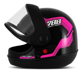 Capacete Masculino Sport Moto 788 Rosa Pro Tork