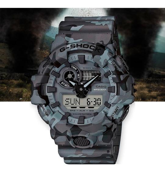Relógio Casio G-shock Masculino Anad Ga-700cm-8adr Camuflado