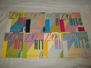 Lp Vinil - Coleção 120 All Time Hits 8 Discos Coletaneas
