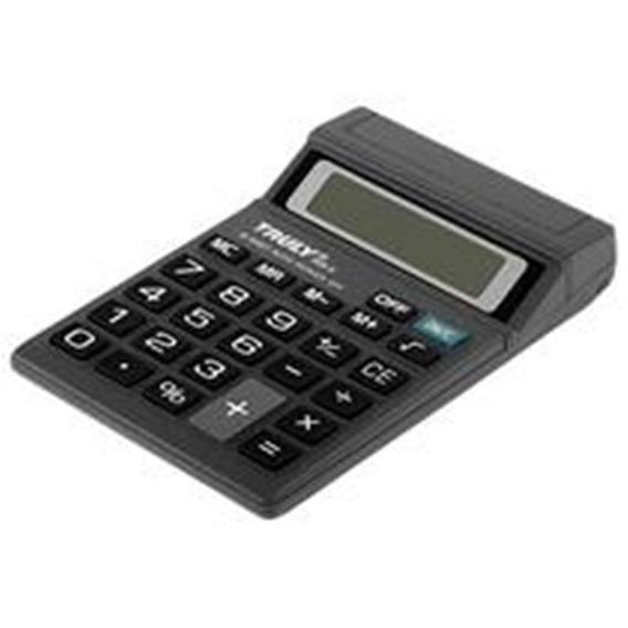 Calculadora De Mesa 8 Dígitos 806 A Truly Usa 1 Und Pilha Aa