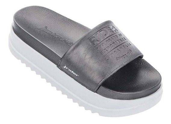 Chinelas Rider Mujer - Power Up Silver