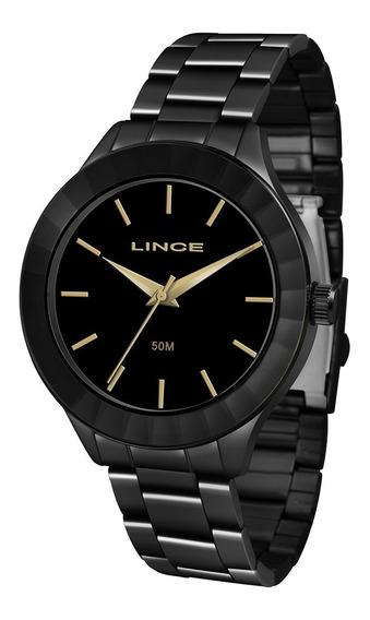 Relógio Feminino Lince Acab. Preto 50m Ref. Lrn4592l-p1px