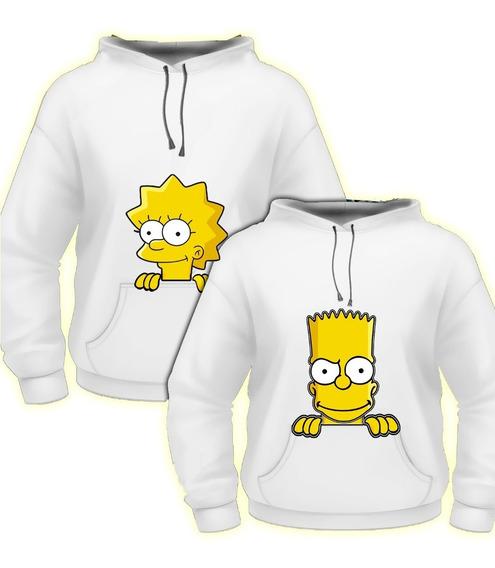 2 Sudaderas Para Pareja Envio Gratis Simpson Bart Y Lisa