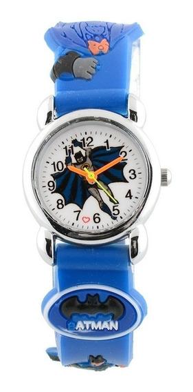 Relógio Infantil Brinquedo Batman Azul E Preto Barato Em 12x