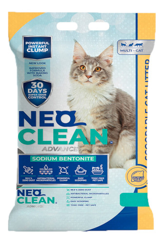 Imagen 1 de 5 de Neo Clean - Arena Aglomerante - Limón 30 Litros