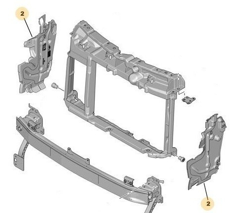 Deflector Der Panel Frontal Radiador Peugeot 208 1.5 16v