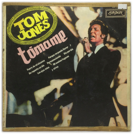 Vinilo Tom Jones Tomame Lp Argentina 1968