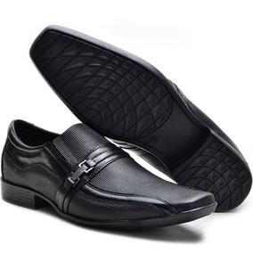 fdb57405c0 Sapato Couro Legítimo + Carteira Meia Cinto E Calçadeira