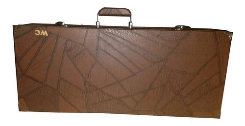 Imagem 1 de 8 de Case Estojo Maleta Wc Top Luxo Térmico Marrom Cavaco