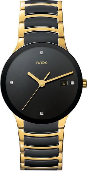 Reloj Rado Centrix Jubilé R30929712 Ceramic Gold-bla Hombre