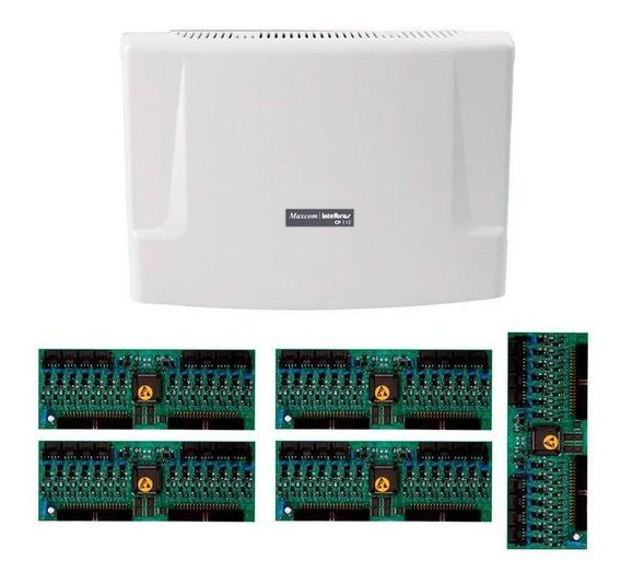 Kit Central Comunicação Intelbras Cp 112 + Placa 80 Ramais