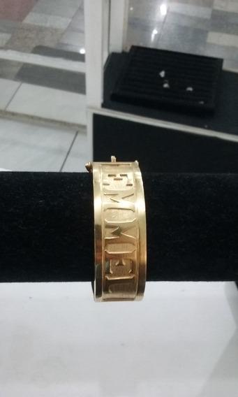 Bracelete De Prata 950k Banhado A Ouro 18k