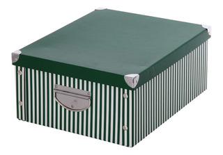 Caja Organizadora Rayada Verde 40x30x17cm The Pel
