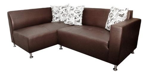 Sofa Modular En L Mita Izquierdo Ecocuero Cafe