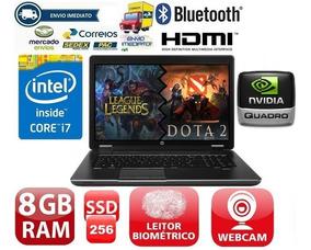 Notebook Hp Zbook I7 8gb 256-ssd Quadro K1100m 2gb