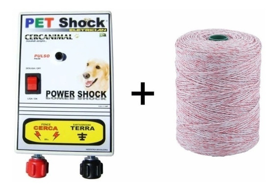 Eletrificador Pet Shock Cerca Eletrica Kit Completo Top