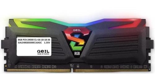 Memória Geil 16gb 2x8 Ddr4 3000mhz Super Luce Black Rgb Amd