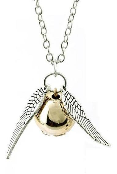 Harry Potter Collar Snitch Dorado Quidditch Envio Gratis!